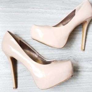 Steve Madden Womens Nude P-Kory Patent Leather